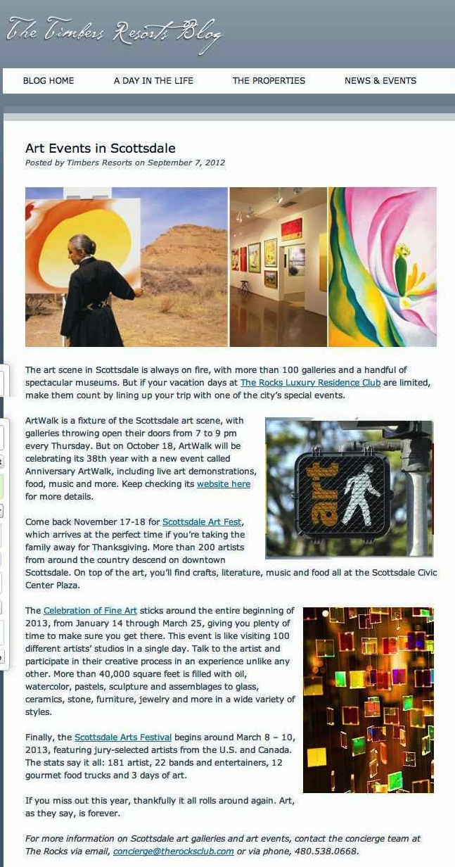 Art Events in Scottsdale | Timbers Resorts