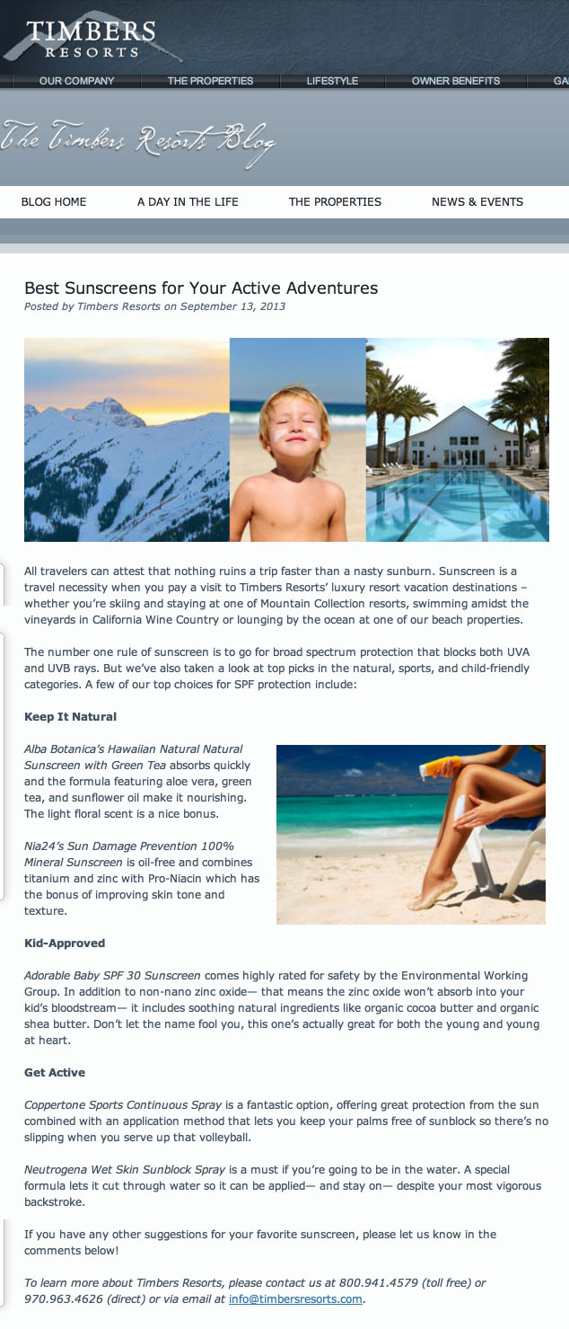 Best Sunscreens for Your Active Adventures   Timbers Resorts copy