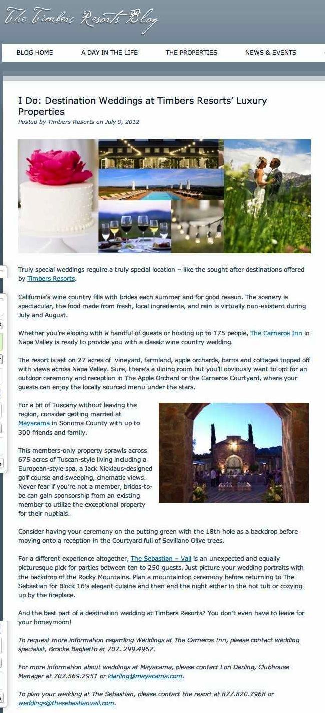 I Do: Destination Weddings at Timbers Resorts' Luxury Properties