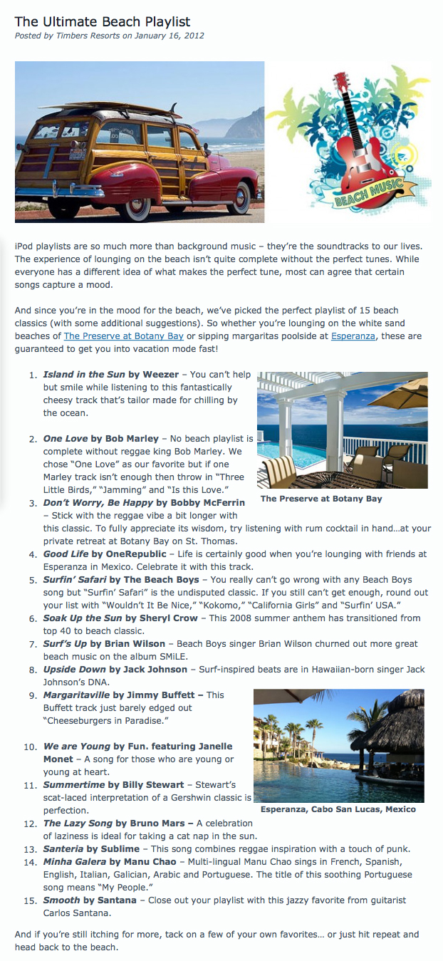 The Ultimate Beach Playlist _ Timbers Resorts_1337874110088 copy