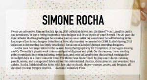 Simone Rocha text