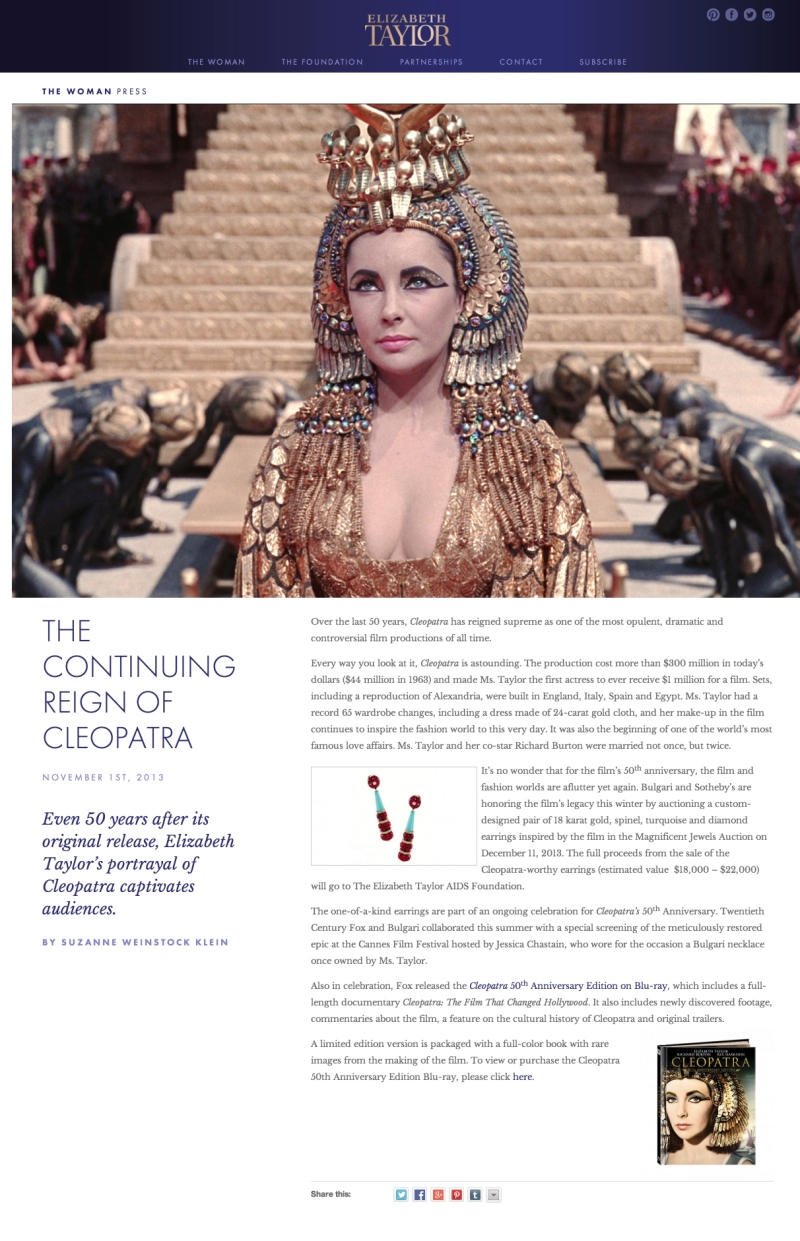 The Continuing Reign of the Elizabeth Taylor Cleopatra copy