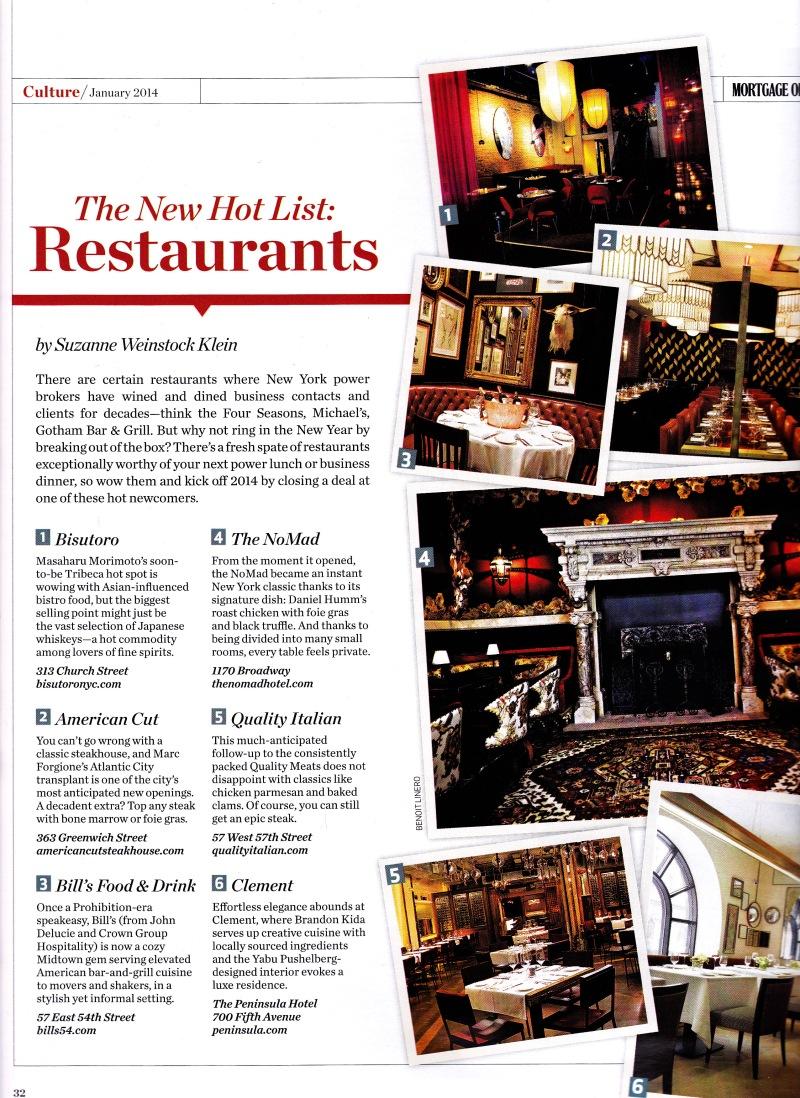 January - restaurants