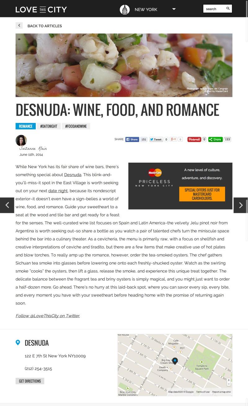 Desnuda Date Night in New York LoveThisCity copy