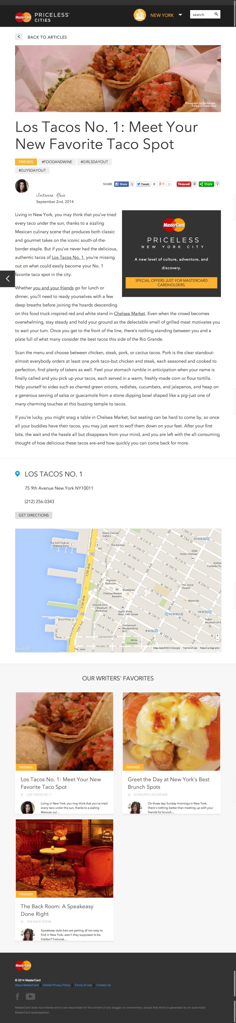 Los Tacos No. 1 Real Mexican Tacos at Chelsea Market